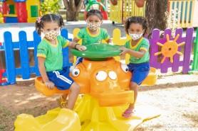 Aqui se aprende, brincando! - Na Capital da Primeira Infância até as escolas são verdadeiros parques de diversões
